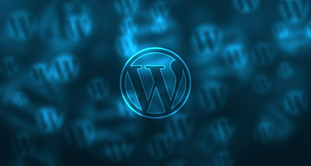 WordPress Logo on a Blue Background