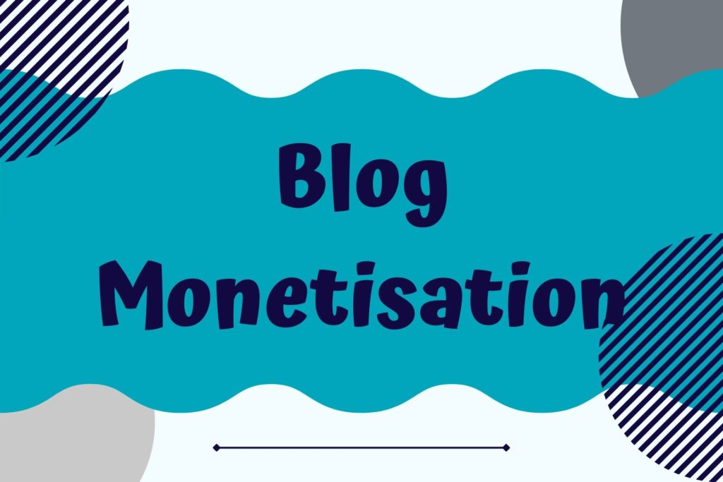 Graphic for Blog Monetisation Course