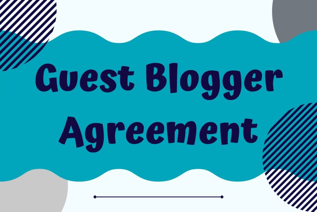 Graphic for Guest Blogger Agreement Legal Template