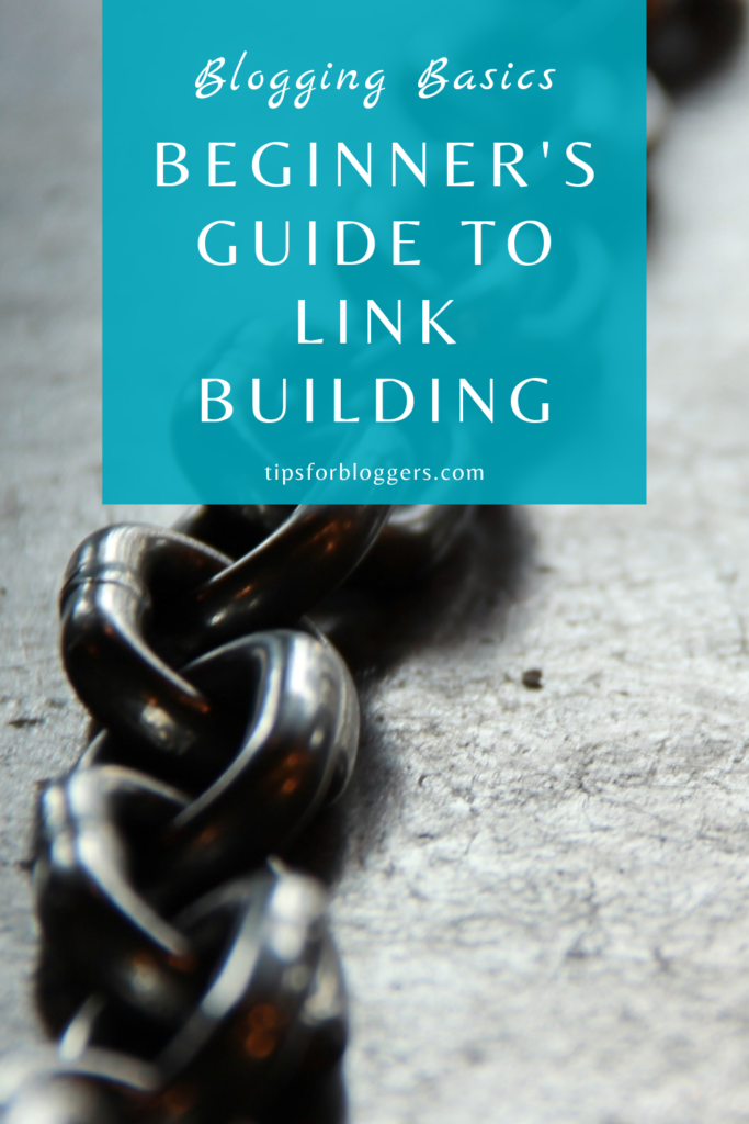Guide to Link Building Pinterest Graphic 1 showing a grey chain