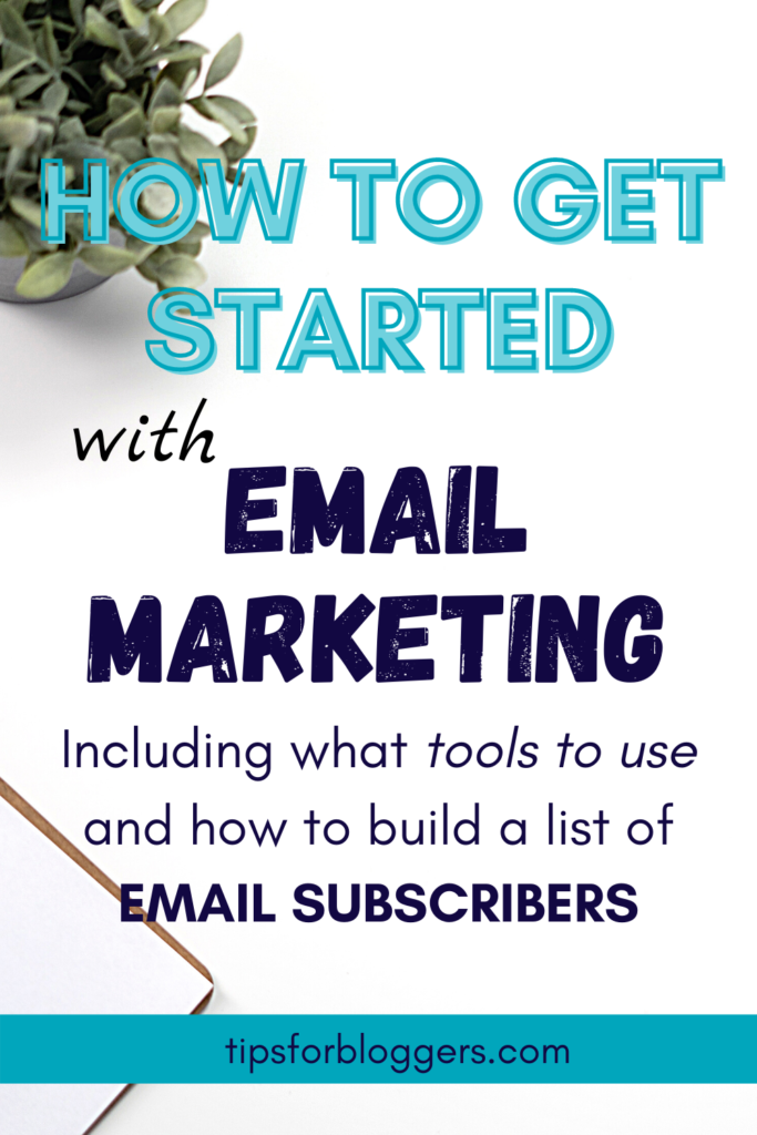 """The text: """"How to Get Started with Email Marketing"""" on a white background"""