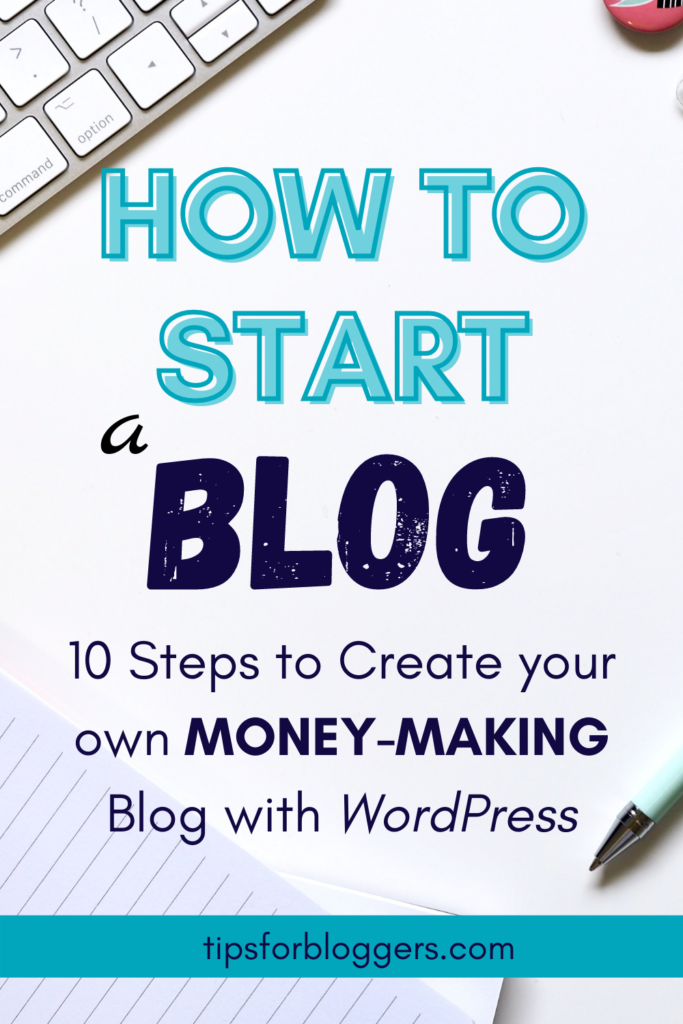 """The text: """"How to Start a Blog"""" on a white background"""