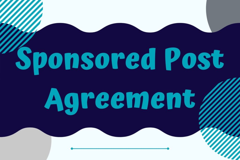 Graphic for Sponsored Post Agreement Legal Template