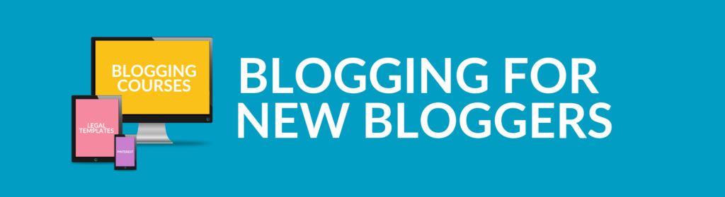 Blue banner for Blogging for New Bloggers School